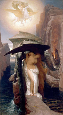 Frederic Leighton Painting - Perseus And Andromeda by Frederic Leighton