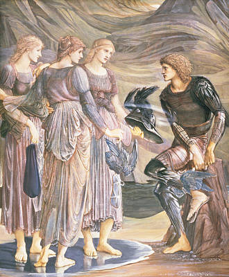 Nymphe Drawing - Perseus And The Sea Nymphs, C.1876 by Sir Edward Coley Burne-Jones
