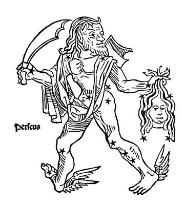 Perseus Constellation, 1482 Print by U.S. Naval Observatory Library