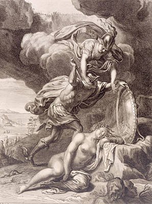 Perseus Cuts Off Medusa's Head Art Print by Bernard Picart