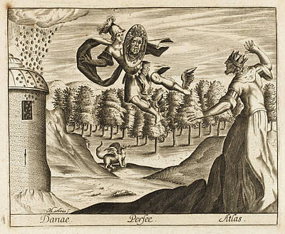 Gorgon Drawing - Perseus, Using The Head Of The  Gorgon by Mary Evans Picture Library