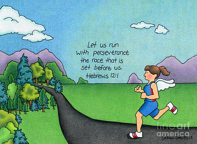 Bible Verse Drawing - Perseverance by Sarah Batalka