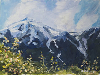 Painting - Perseverance Trail In Autumn Alaska by Yulia Kazansky