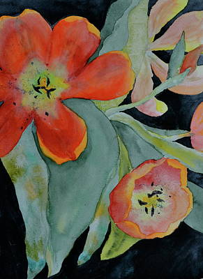 Spring Bulbs Painting - Persevere by Beverley Harper Tinsley
