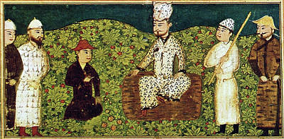 Persian Miniature Painting - Persia Mythical King by Granger