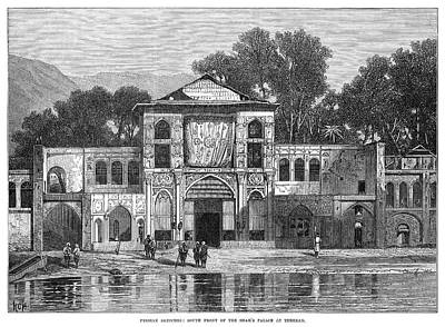 Tehran Painting - Persia Tehran Palace, 1873 by Granger