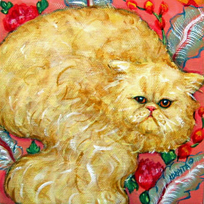Painting - Persian Cat On A Cushion by Rebecca Korpita