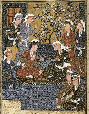 Safavid Persia Photograph - Persian Manuscript, 1650. Court by Everett