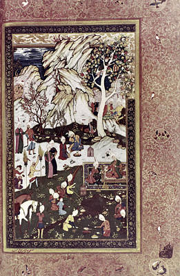 Safavid Painting - Persian Miniature, Early 16th Century by Granger