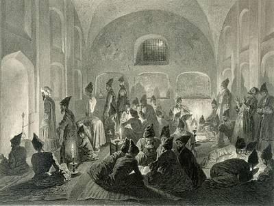 Festival Drawing - Persian Mosque At Yerevan, Armenia by Grigori Grigorevich Gagarin