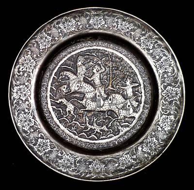 Persian Plate Hunting Scene Art Print by Gordon Maull