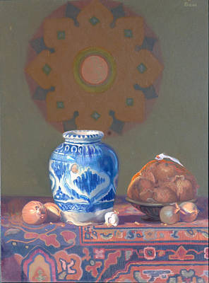 Persian Onion Painting - Persian Vase by David Dozier