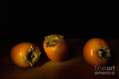 Persimon Photograph - Persimmon Trio - 1 by Ann Garrett
