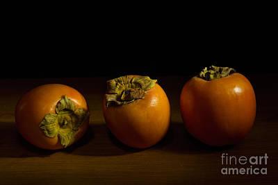 Persimon Photograph - Persimmon Trio - 2 by Ann Garrett
