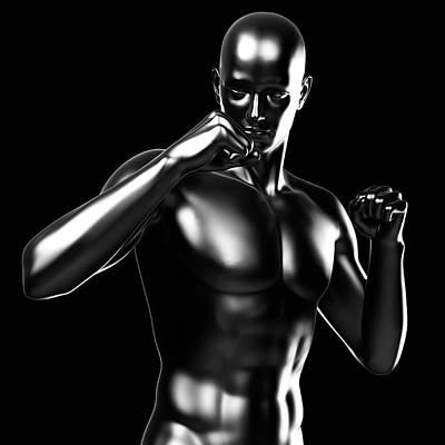 Person Boxing Art Print