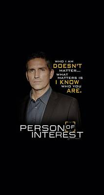 Finch Digital Art - Person Of Interest - I Know by Brand A