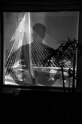 Brazil Photograph - person superimposed on Octavio Frias De Oliveira Bridge Brazil by Celso Diniz