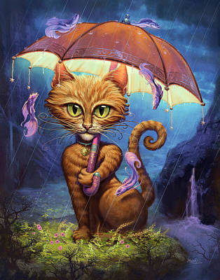Orange Tabby Digital Art - Personal Sunshine by Jeff Haynie