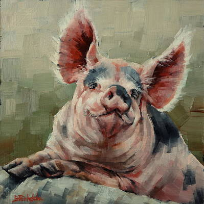Painting - Personality Pig by Margaret Stockdale