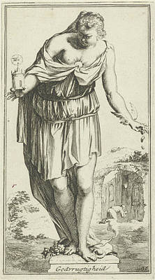 Personification Of Piety, Arnold Houbraken Art Print by Arnold Houbraken