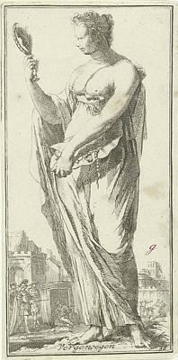 Personification Of Satisfaction, Arnold Houbraken Art Print