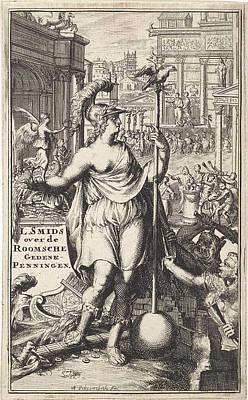 Personification Of The City Of Rome, Adriaen Schoonebeek Art Print