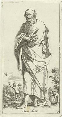 Phoenix Bird Drawing - Personified Eternity, Arnold Houbraken by Arnold Houbraken