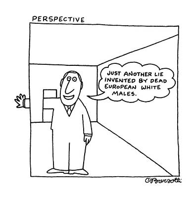 Doorway Drawing - Perspective by Charles Barsotti