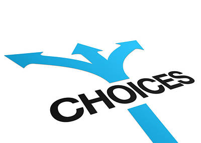 Abstract Drawings - Perspective Choices Sign by Aged Pixel