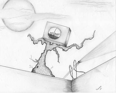 Drawing - Perspective by Dan Twyman