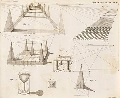 Book Of James Photograph - Perspective Diagrams, 19th Century by Science Photo Library