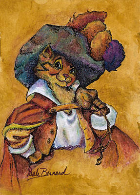 Painting - Perspicacious Puss by Dale Bernard