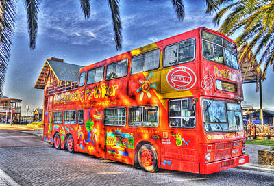 Perth Tour Bus Art Print