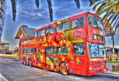 Perth Tour Bus Art Print by Geraldine Alexander