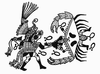 Inca Drawing - Peru Inca Gods by Granger