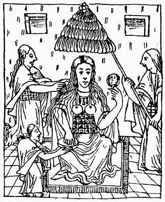 Inca Drawing - Peru Inca Women by Granger