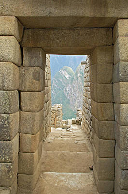 Peru, Machu Picchu, Close-up Art Print