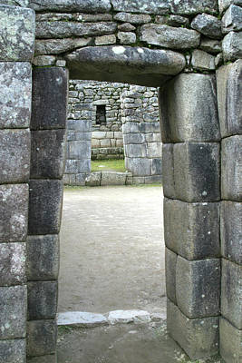 Peru, Machu Picchu Doorway Art Print