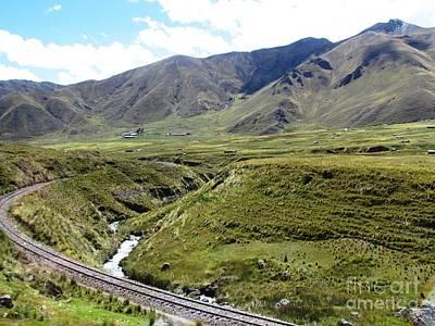 Peru Mountain Pass Rail Road Art Print