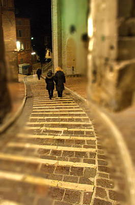 Photograph - Perugian Stairs by Francois Dumas