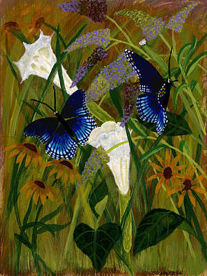 Painting - Perusing The Flowers by Susan Schmitz