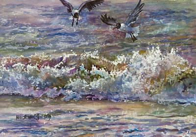 Perusing The Menu Original by Alice Grimsley