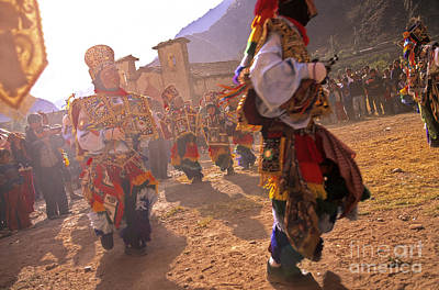 Photograph - Peruvian Festival Sacred Valley Peru by Ryan Fox
