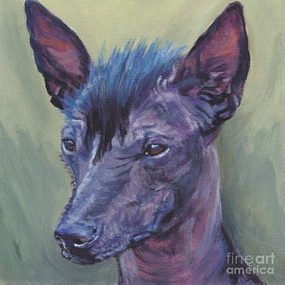 Painting - Peruvian Hairless Dog by Lee Ann Shepard