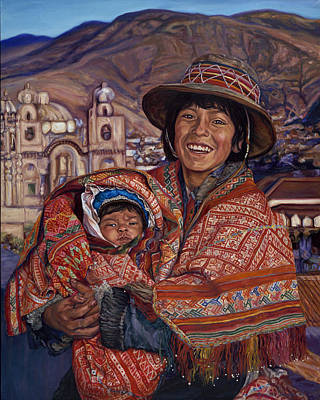Painting - Peruvian Joy by Christine Lytwynczuk