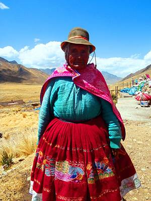 Wall Art - Photograph - Peruvian Lady by Jackie and Noel Parry