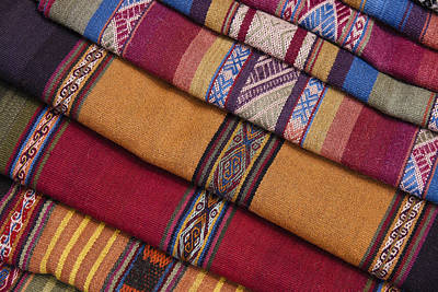 Photograph - Peruvian Textiles by Michele Burgess