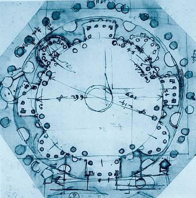 Peruzzi Baldassarre, Ideal Plan, 1530 - Art Print by Everett