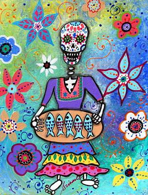 Painting - Pescadora Dia De Los Muertos by Pristine Cartera Turkus