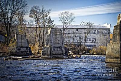 Photograph - Peshtigo Northern Railroad Bridge Pylons by Ms Judi